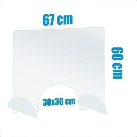 Osłona biurkowa z plexi ochronna  (1)