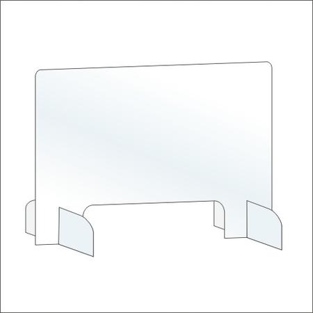 Osłona z plexi 6mm szyba pleksa na biurko 100x75 (1)