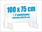 Osłona z plexi 6mm szyba pleksa na biurko 100x75 (4)