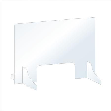 Osłona z plexi 4mm na ladę biurko pleksa 100x75cm (1)